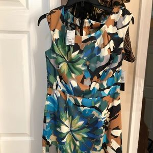 AGB Beautiful MULTICOLORED DRESS Size 10P NWT.